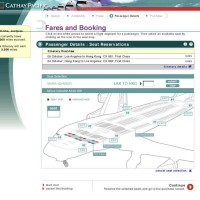 Cathay Pacific -Seat Map Generator to allow passengers select their preferred seats on flights.