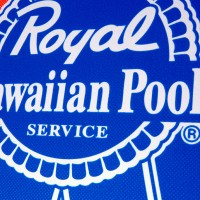 Helvis - Royal Hawaiian Pool Service and Black Label Skateboards - Deck Design